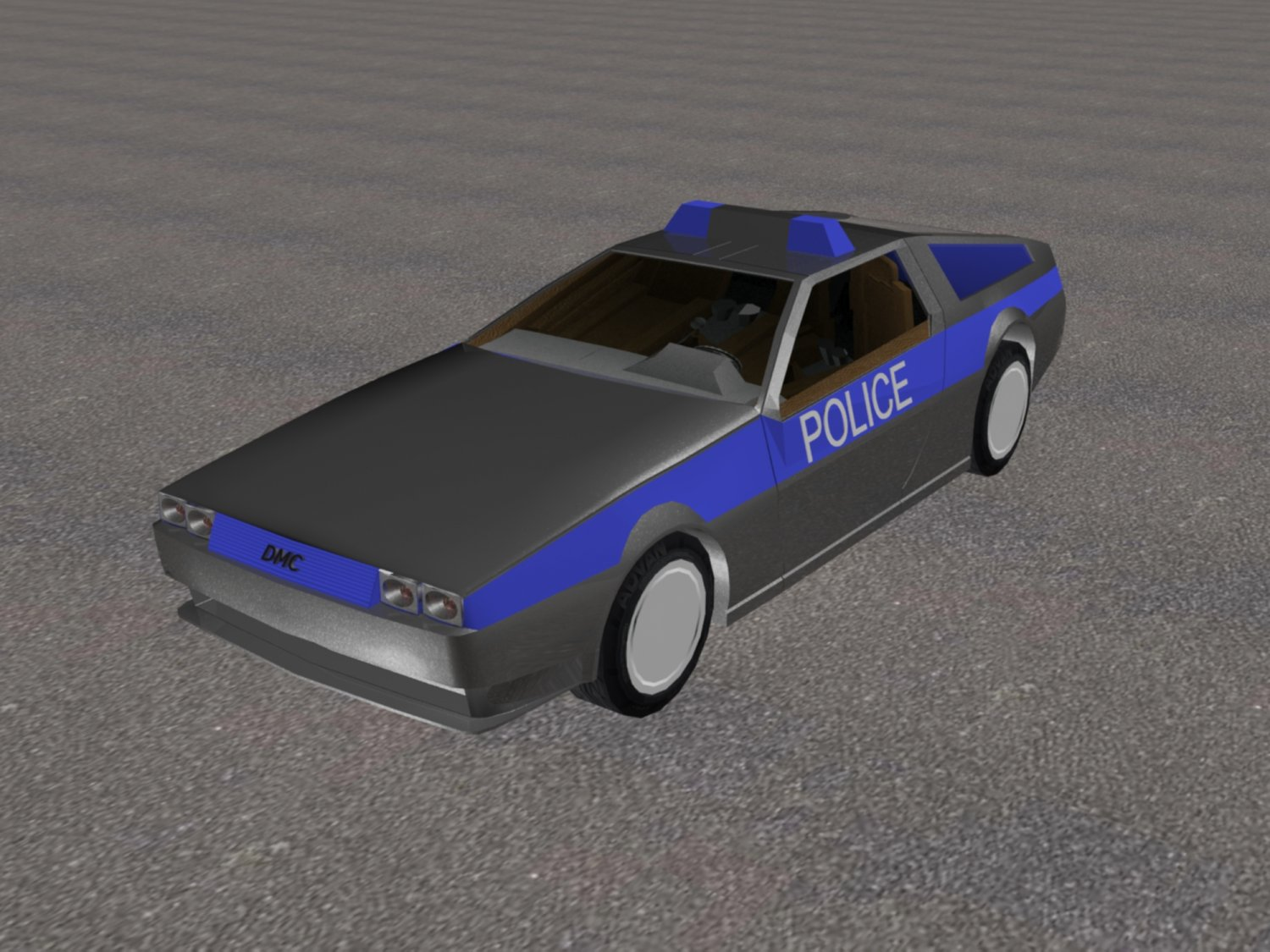 Delorean Dmc 12 Police Free 3d Model In Royal Cars 3dexport