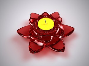 Lotus Glass Candle Holder 3D Model