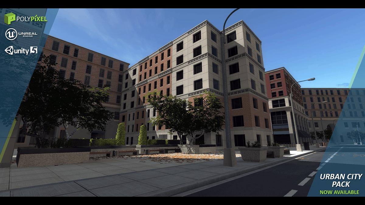 Urban City 3D Model in Cityscapes 3DExport