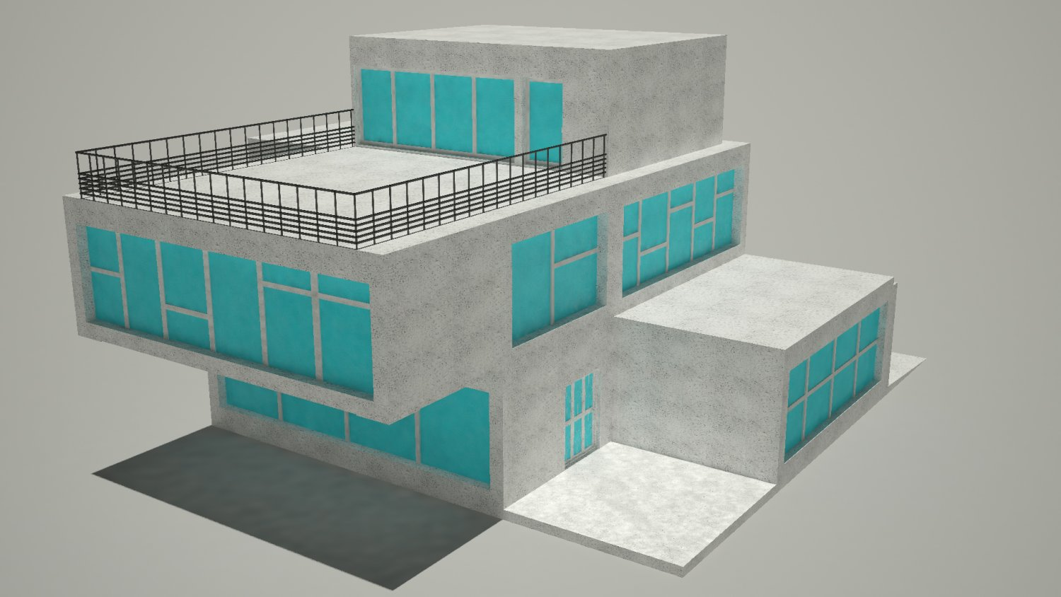 Simple house free 3d model in buildings 3dexport