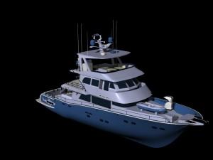 Trawler yacht - boat - ship trawler concept