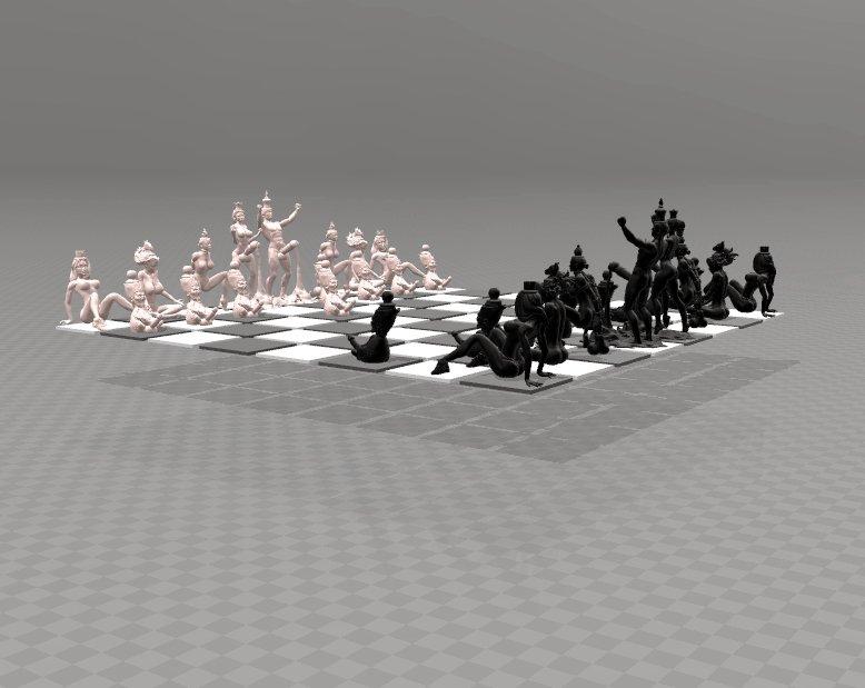 Erotic chess set free 3d model in other 3dexport.
