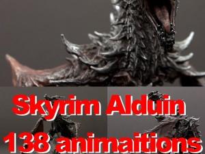 Dragon Skyrim Alduin 138 animaitions