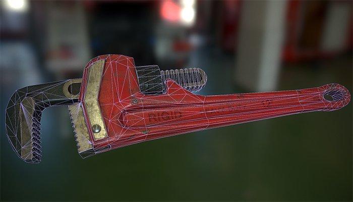 Pipe wrench 3D Model in Tools 3DExport