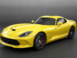 Dodge Viper SRT HQ Interior 3D Model. Slavsan3D. Sport Cars