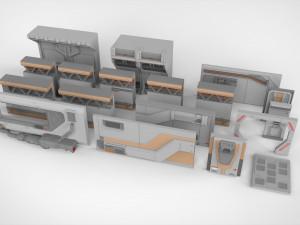 kitbash 3D Models - Download 3D kitbash Available formats