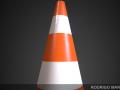 Traffic Cone 4K Texture
