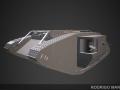 Mark IV British tank of World War I