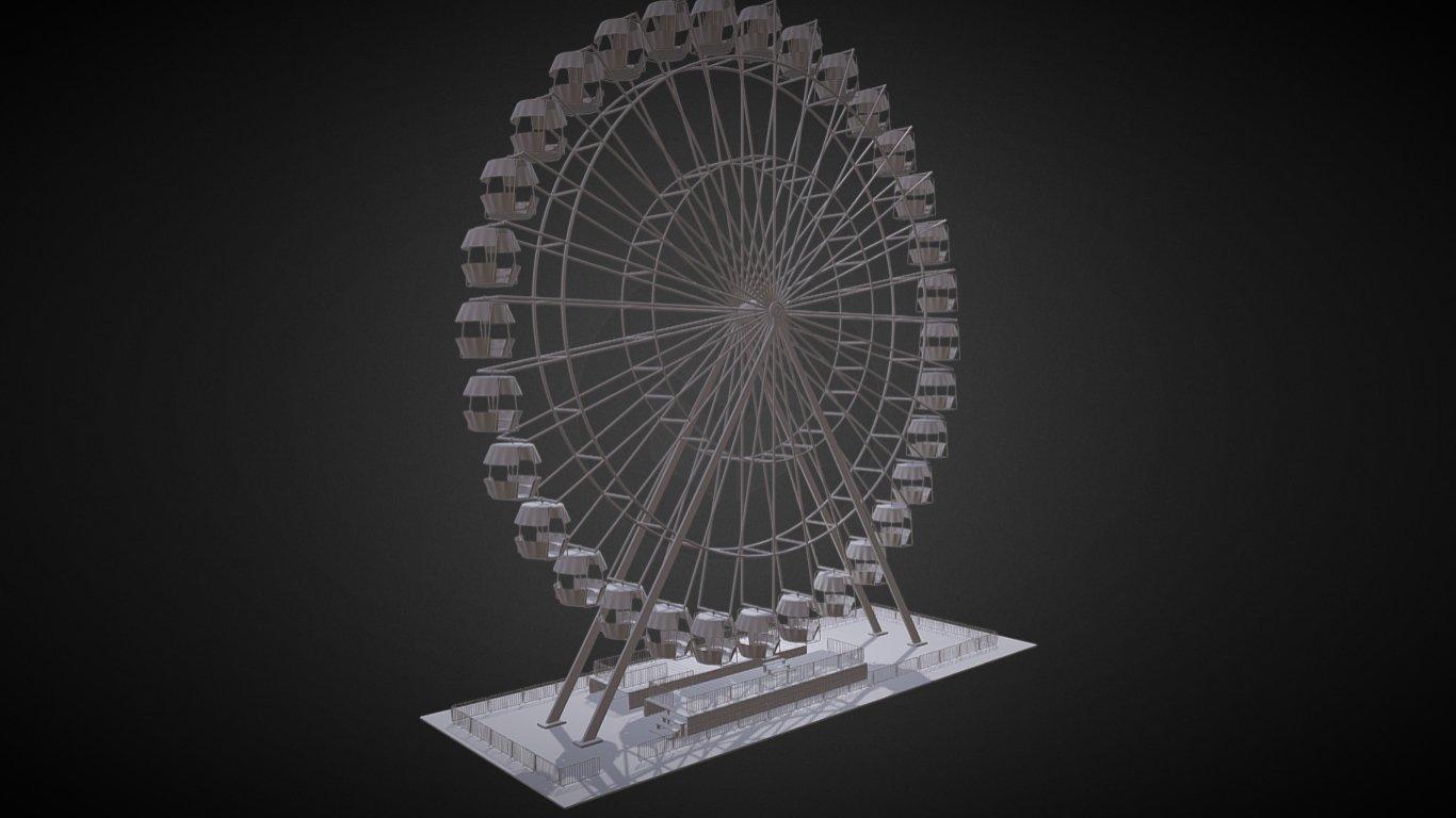ferris wheel free 3d model in landmarks 3dexport