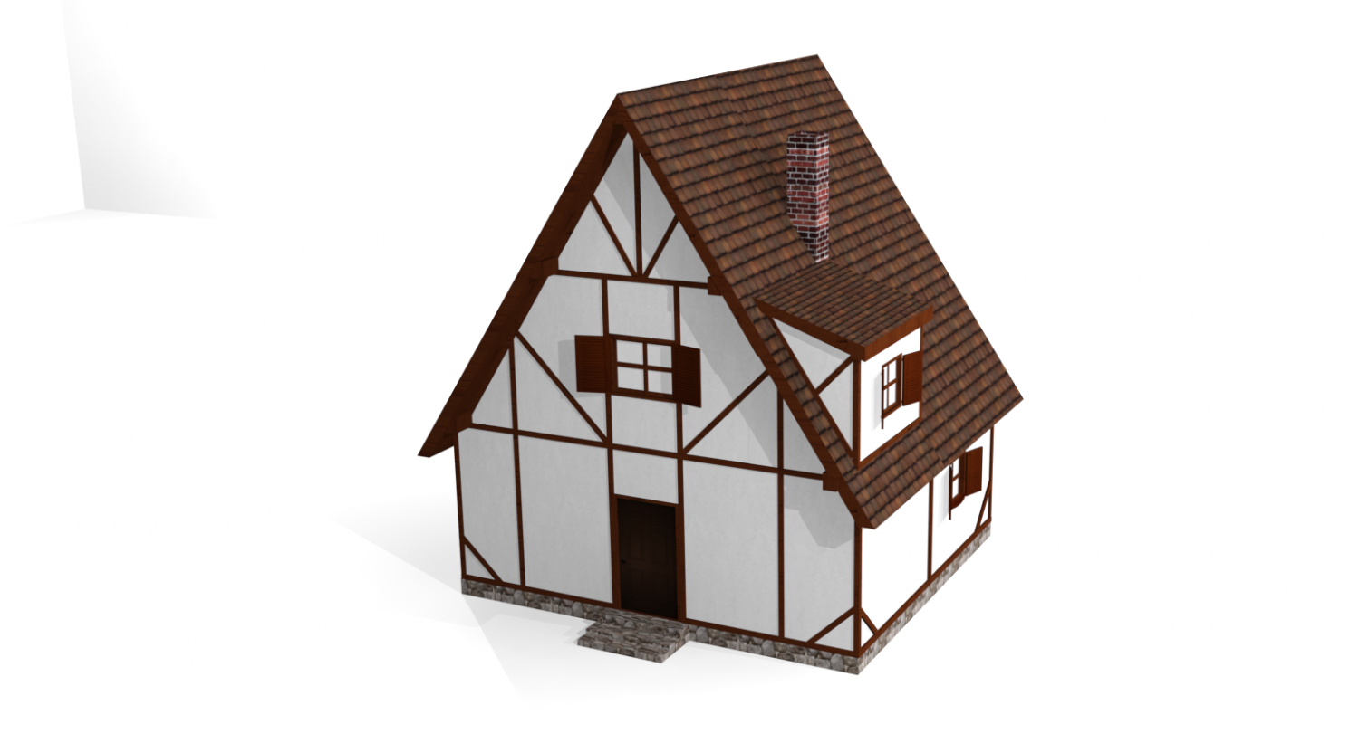 Small House fahverk 3D Model in Buildings 3DExport