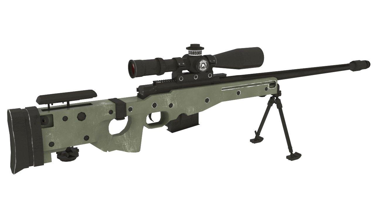 Accuracy International 3D Model in Rifle 3DExport