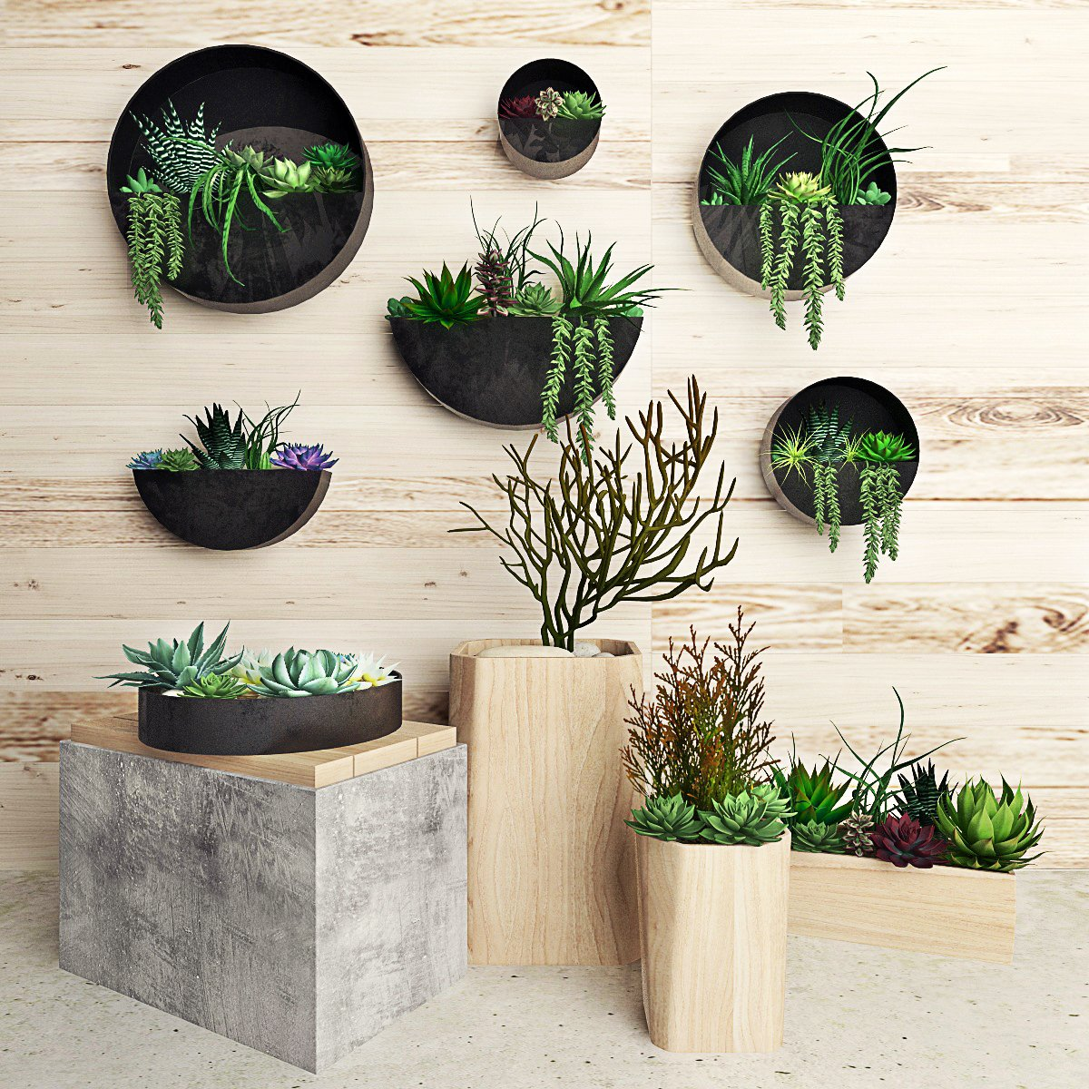 Plant On The Wall 111 3d Model In Small Plants 3dexport