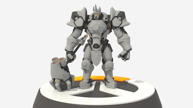 reinhardt overwatch 3d-modell in fantasie 3dexport, Badezimmer ideen