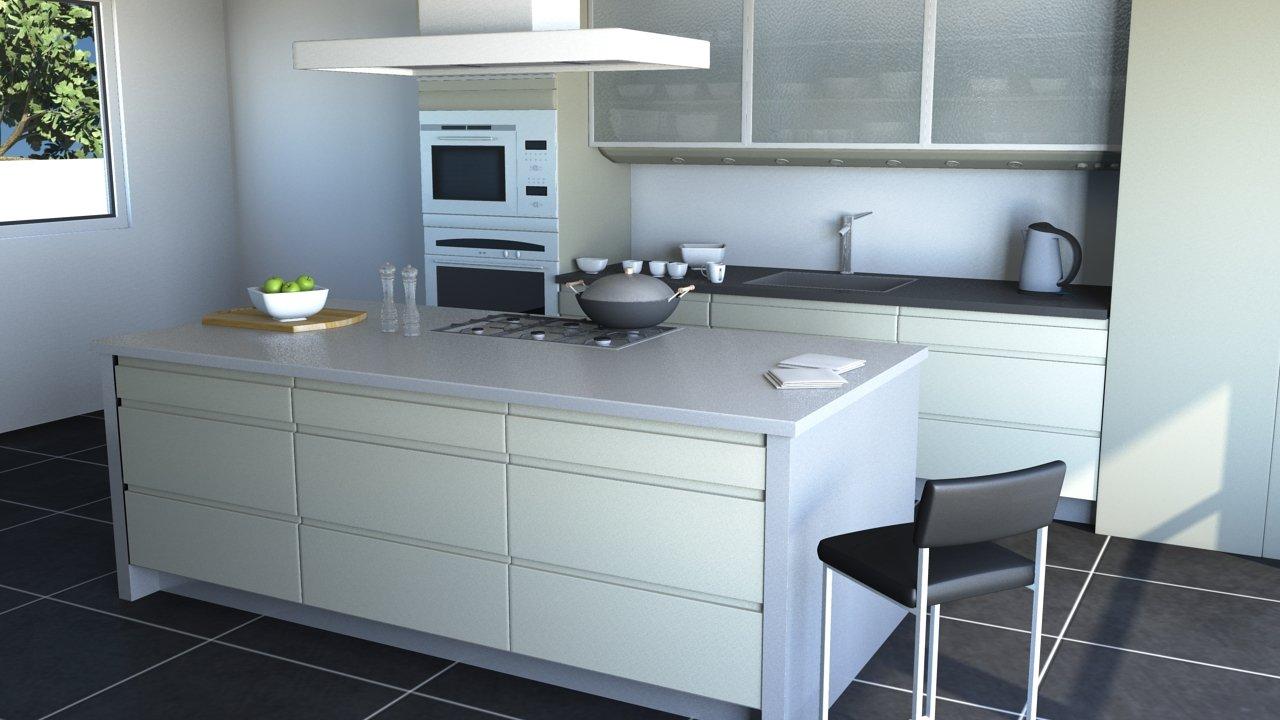 Kitchen Modern 3D Model in Kitchen 3DExport