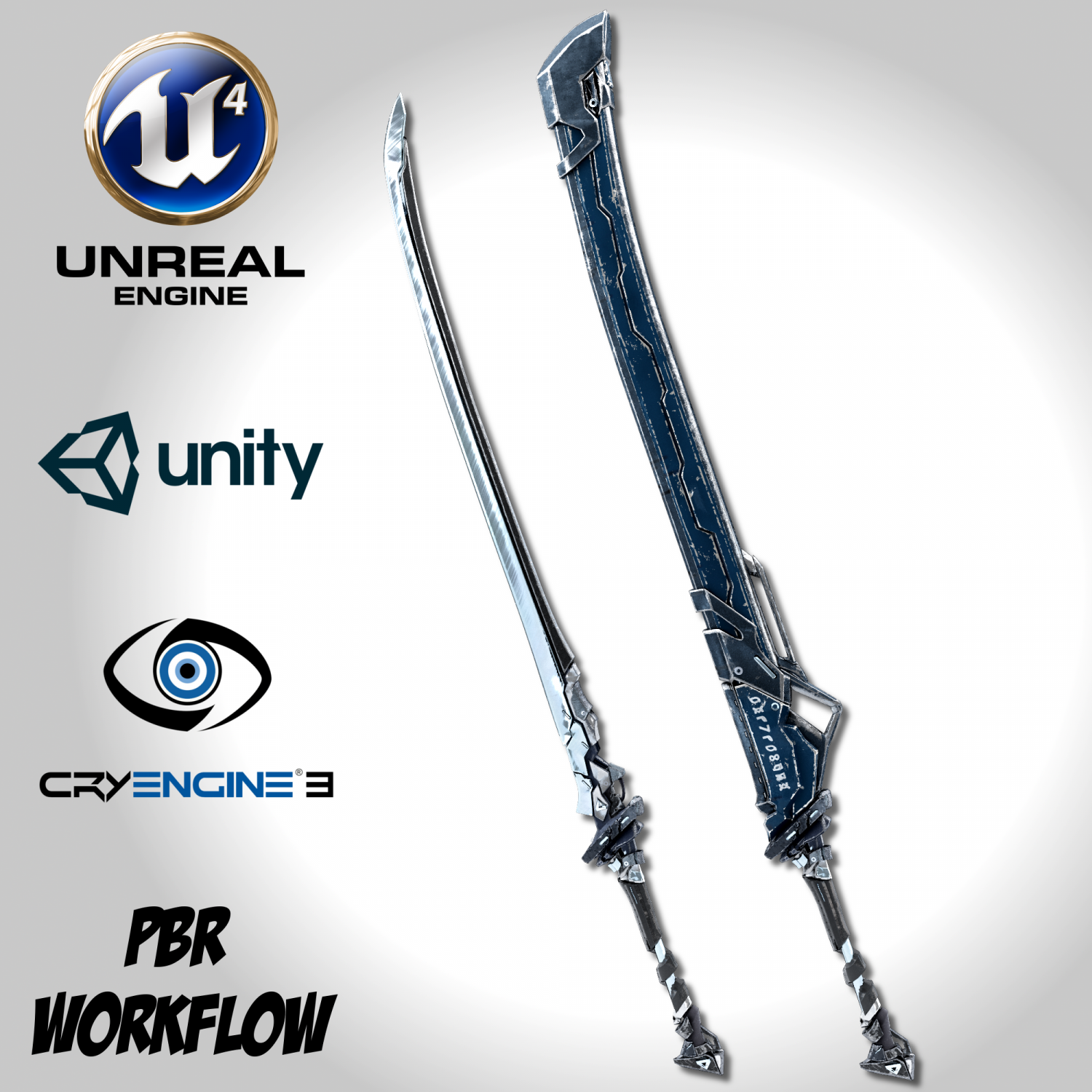 Sci-fi Frozen Sword - Remake 3D Model in SCI-FI 3DExport