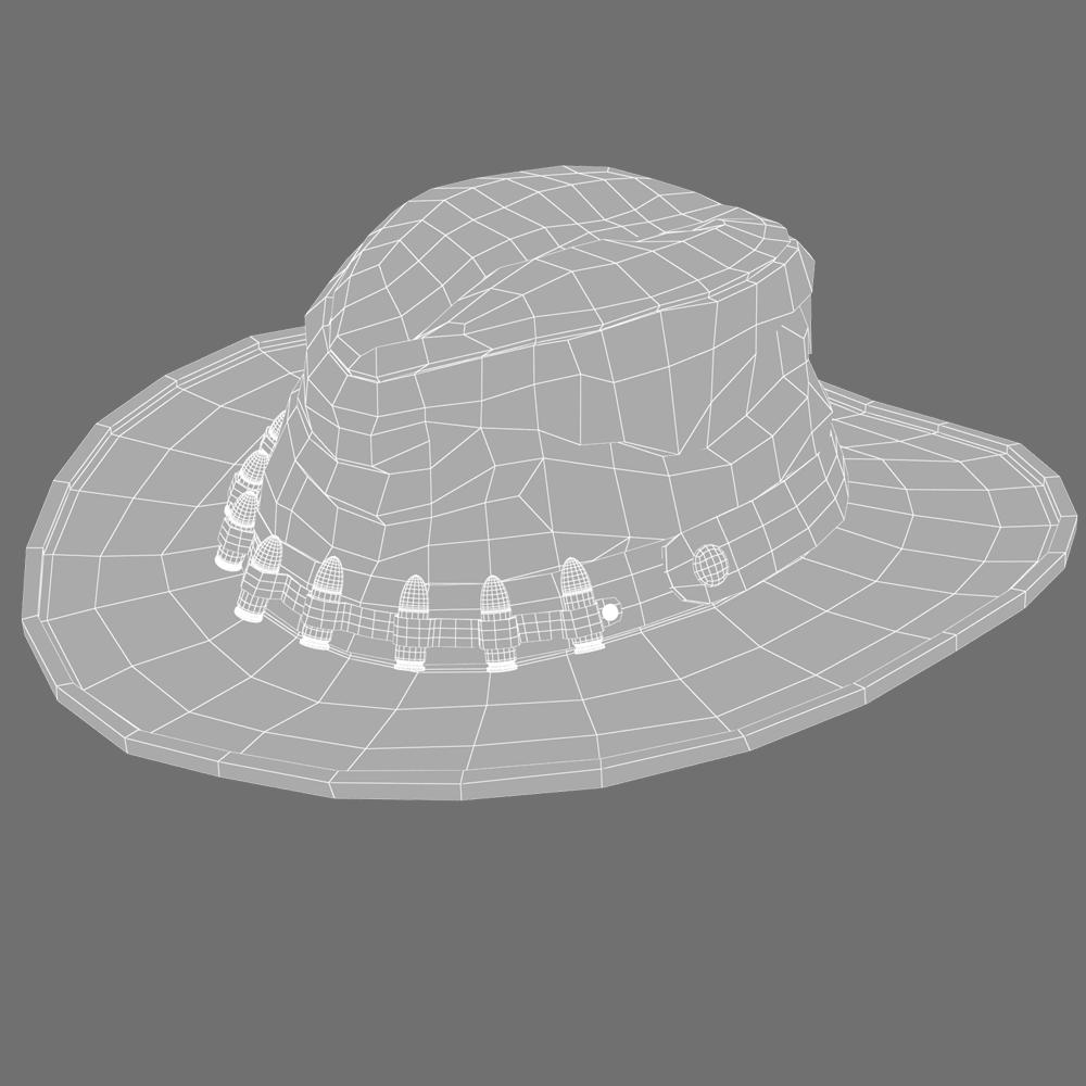 Cowboys hat Modelo 3D in Ropa 3DExport 3841e2fed39