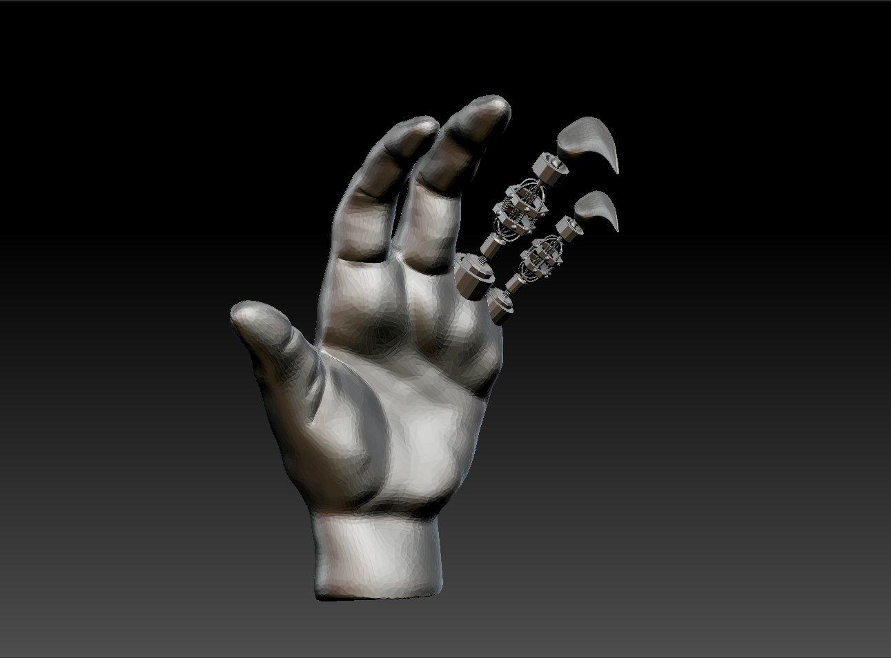 Robotic Hand 3D Model in Robot 3DExport