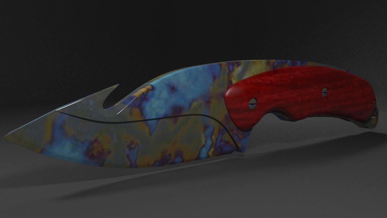 gut knife 3d model in melee 3dexport