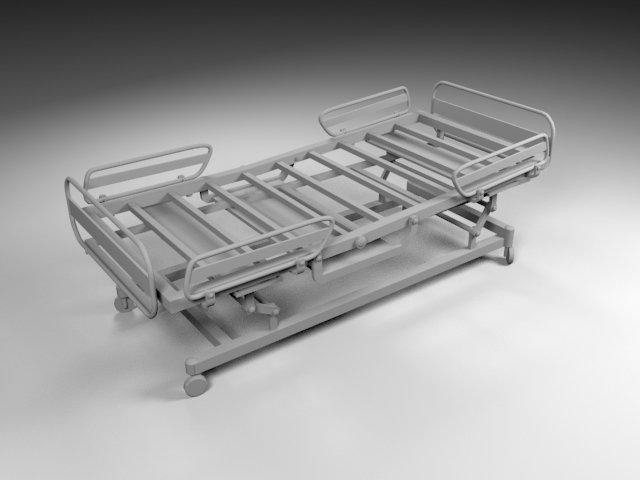 Hospital Bed Free 3D Model in Medical Equipment 3DExport