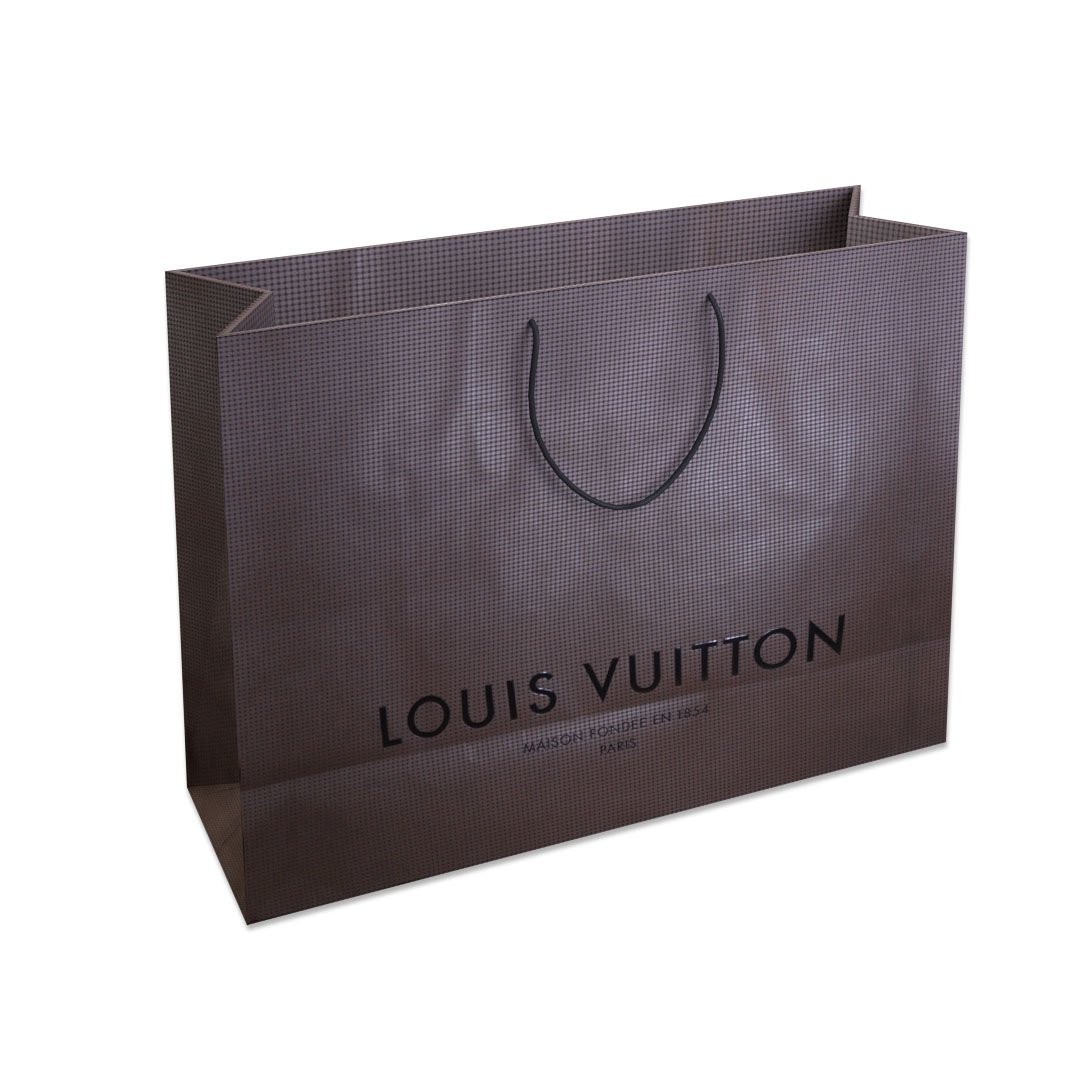 9ac0dbcc213e Designer Shopping Bag - Louis Vuitton 3D Model in Household Items ...