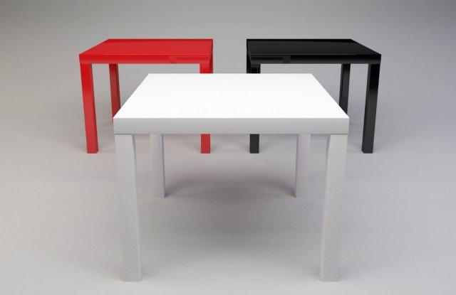 coffee table ikea lack 3d model