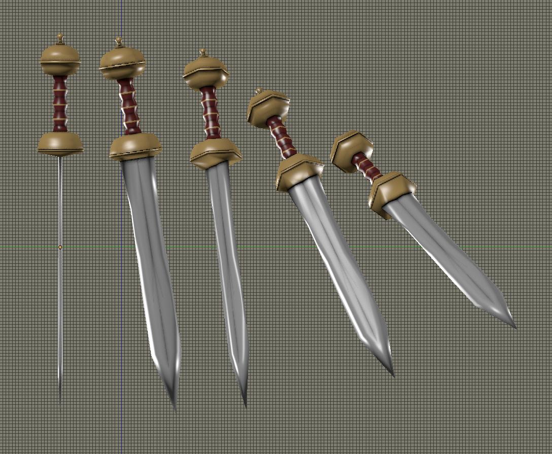 GLADIUS SWORD Free 3D Model in Melee 3DExport