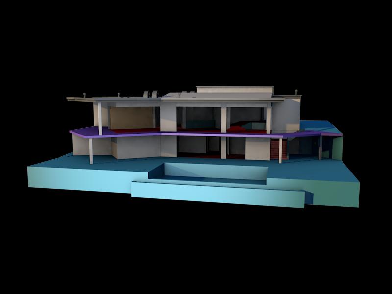Franklins house from GTA V stl 3D Model in Buildings 3DExport