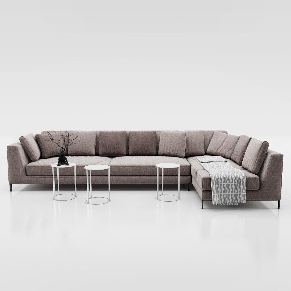 Couch Bb Italia Ray 3d Model In Sofa 3dexport