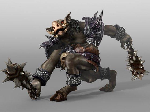Kobold animated monster Unity 3D Model in Monster 3DExport