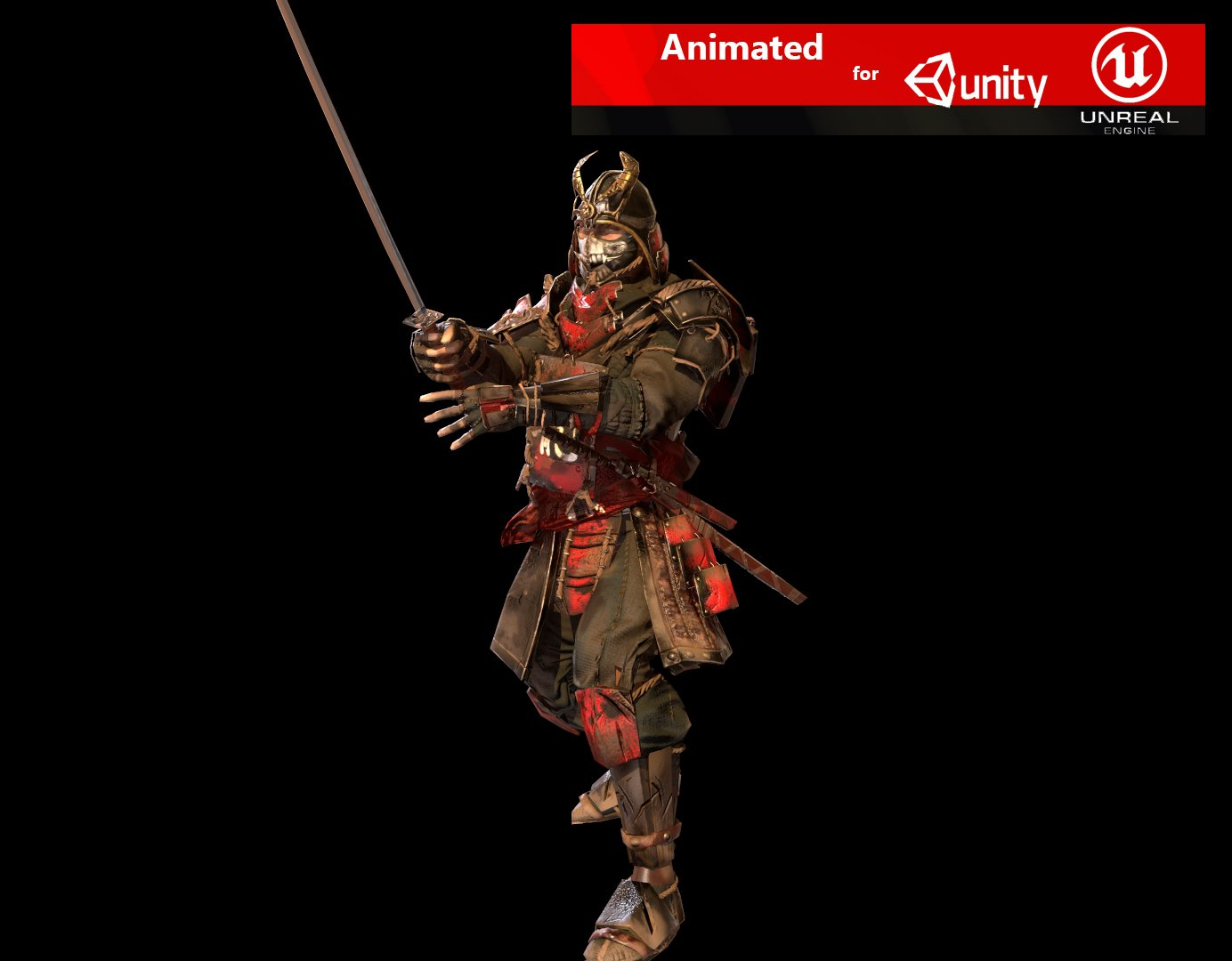 samurai 3d model in man 3dexport