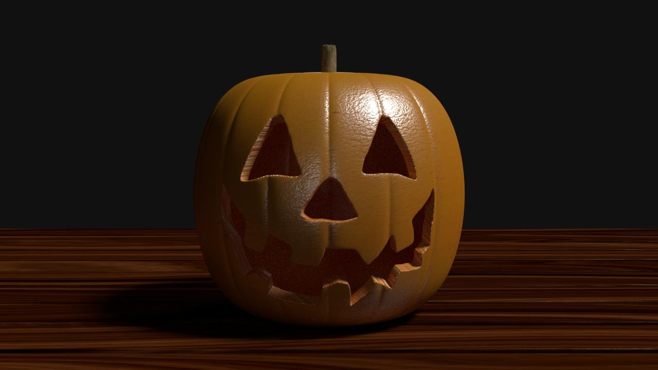 Jack O Lantern 3D Modell in Gemüse 3DExport