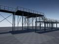 modular industrial platform model 3d in buildings 3dexport