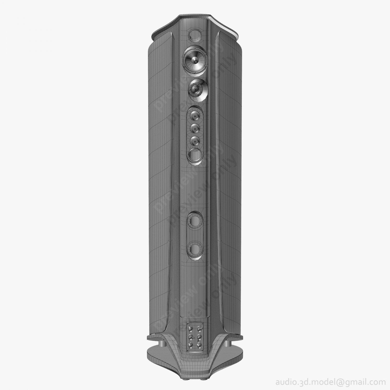 Sonus faber Aida White 3D Model in Audio 3DExport