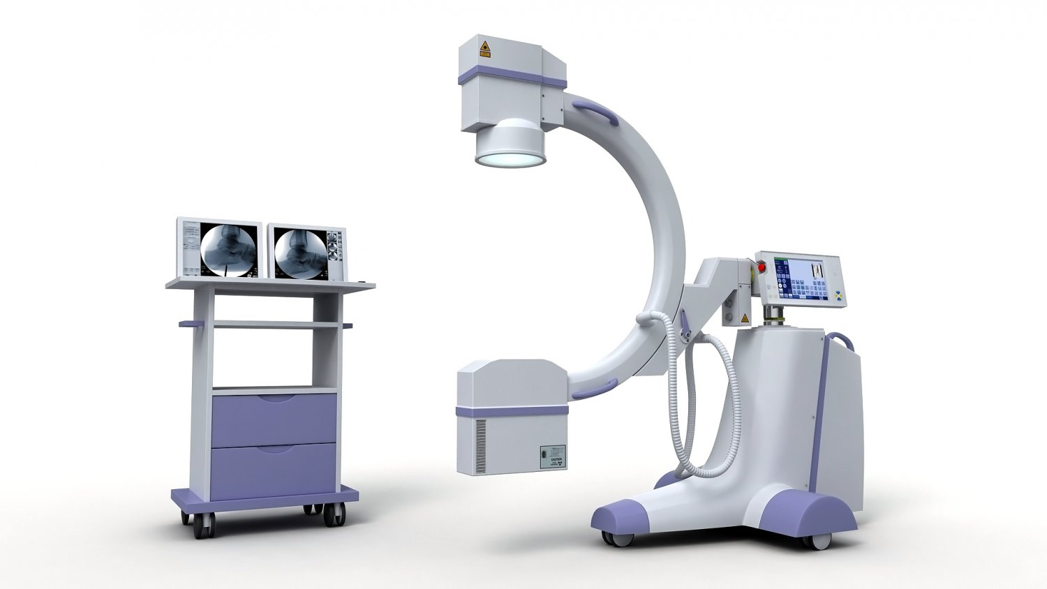C-Arm X-Ray Machine 3D Model in Medical Equipment 3DExport