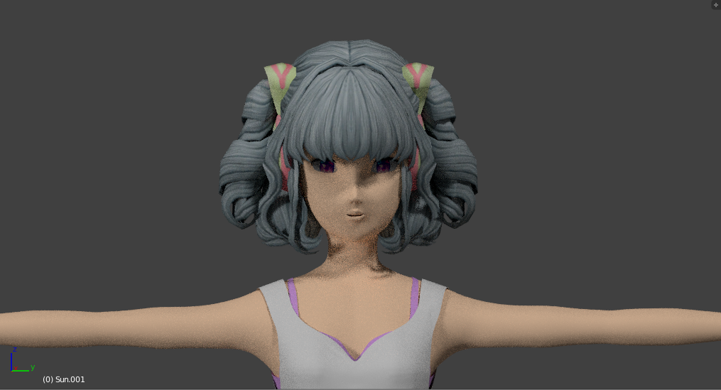 Casual Manga Girl With Cool Hairstyle 3d Model In Cartoon 3dexport