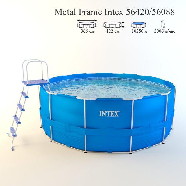 Intex metal frame pool 56420 3D Model in Environment 3DExport