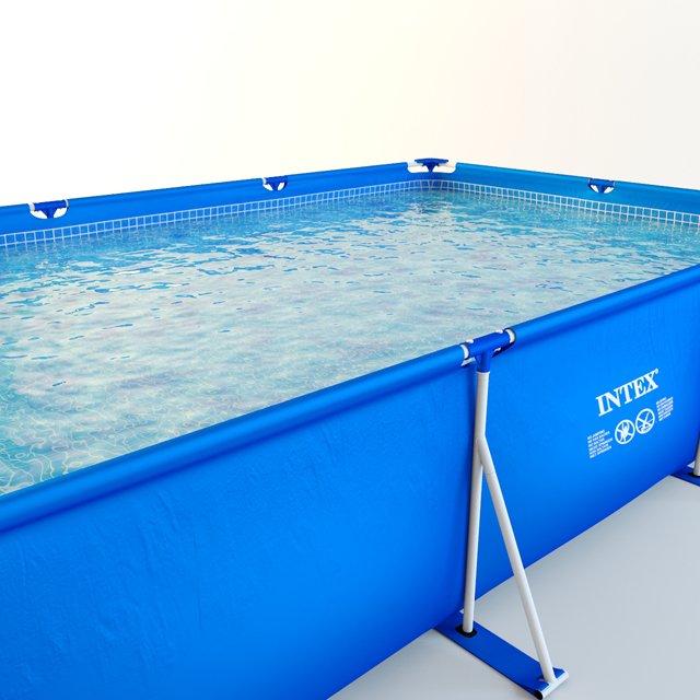 Intex metal frame pool 28273 3D Model in Outdoor items 3DExport