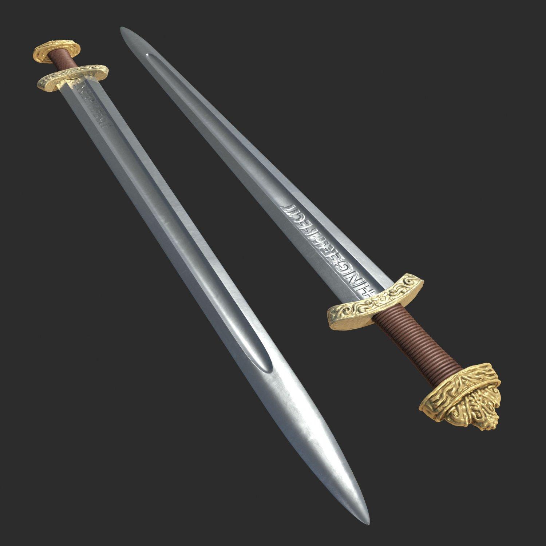High Quality Viking Sword 3D Model in Accessories 3DExport