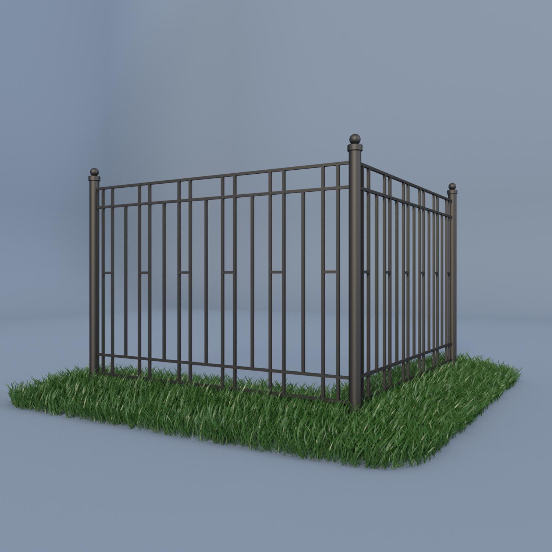 fence 3d model. fence 3d model