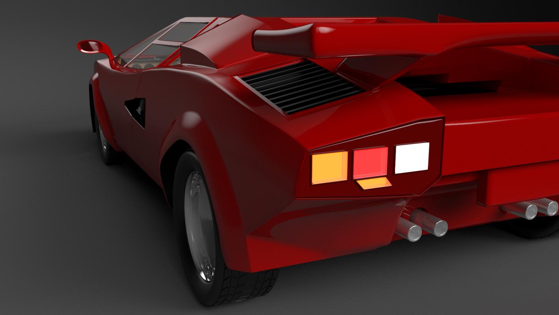 Lamborghini Countach LP 5000S 3D Model