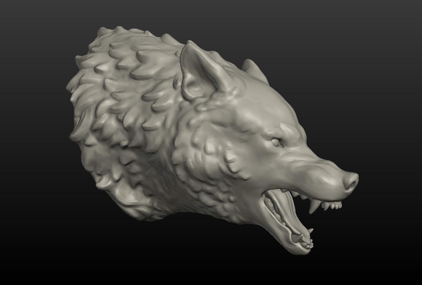 Wolf Head II 3D Model in Anatomy 3DExport