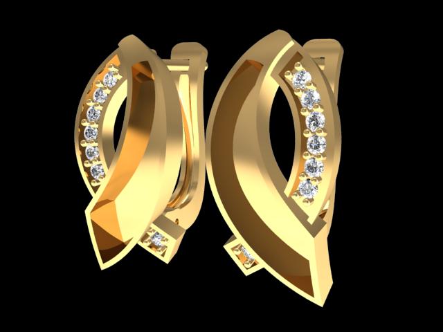 TJF 49 3D Model in Earrings 3DExport