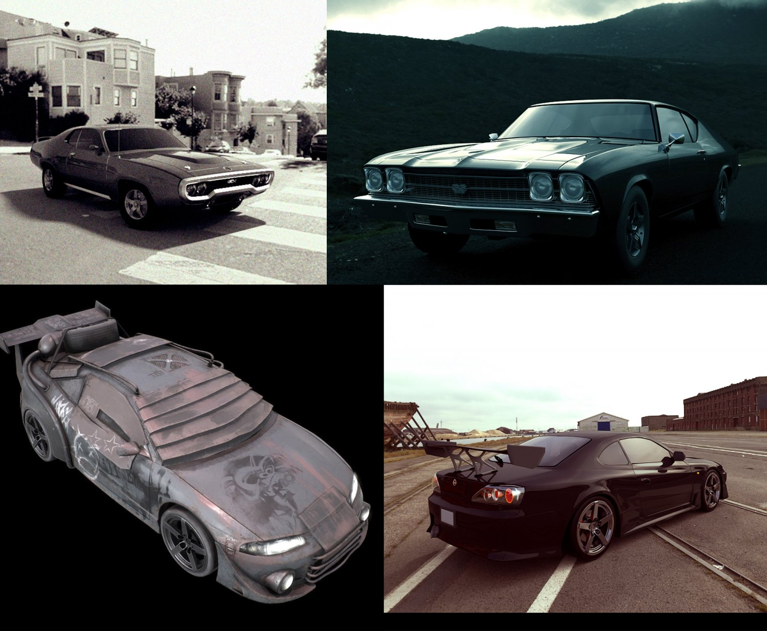 Cars COLLECTION 3D Model in Old Cars 3DExport