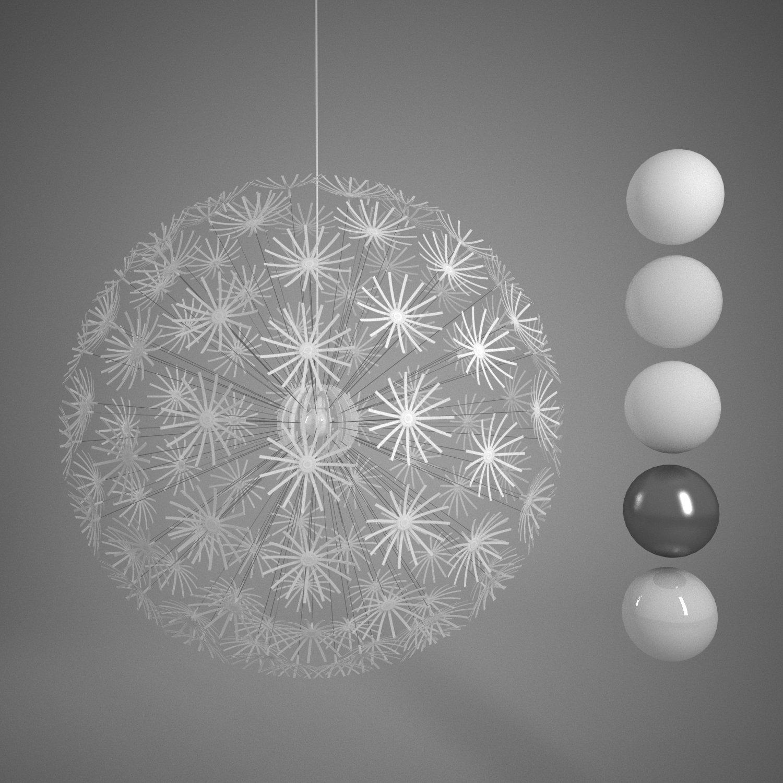 ikea ps maskros lamp r-asset modèle 3d in plafonniers 3dexport