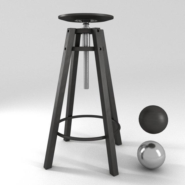 ikea dalfred bar stool rasset 3d model - Ikea Bar Stools