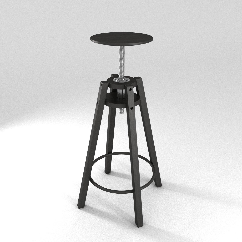 Ikea Dalfred bar stool R-asset. Remove Bookmark Bookmark This Item - Ikea Dalfred Bar Stool R-asset 3D Model In Stool - 3DExport