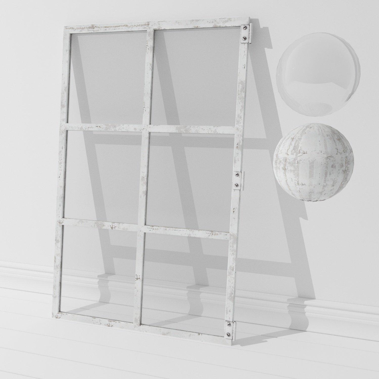 Old window frame 3D Model in Decoration 3DExport