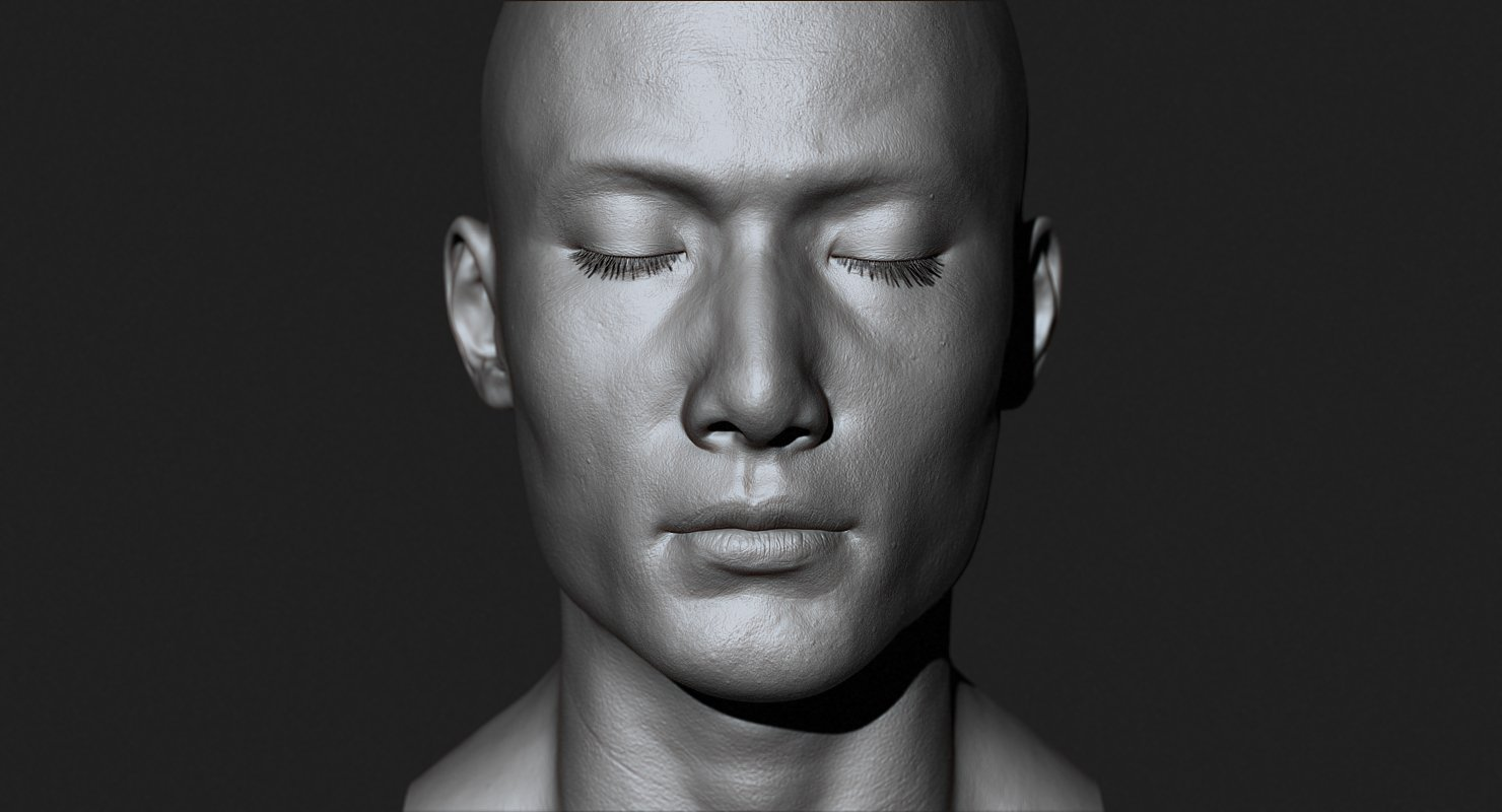 Asian Male Head For Production High Poly 3d Model In Anatomy 3dexport