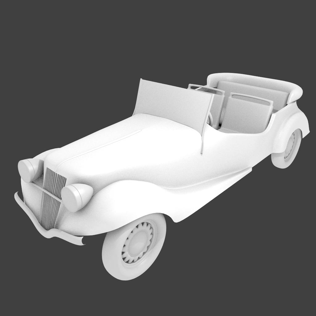 Royal Antique Old-timer Car 3D Model in Royal Cars 3DExport