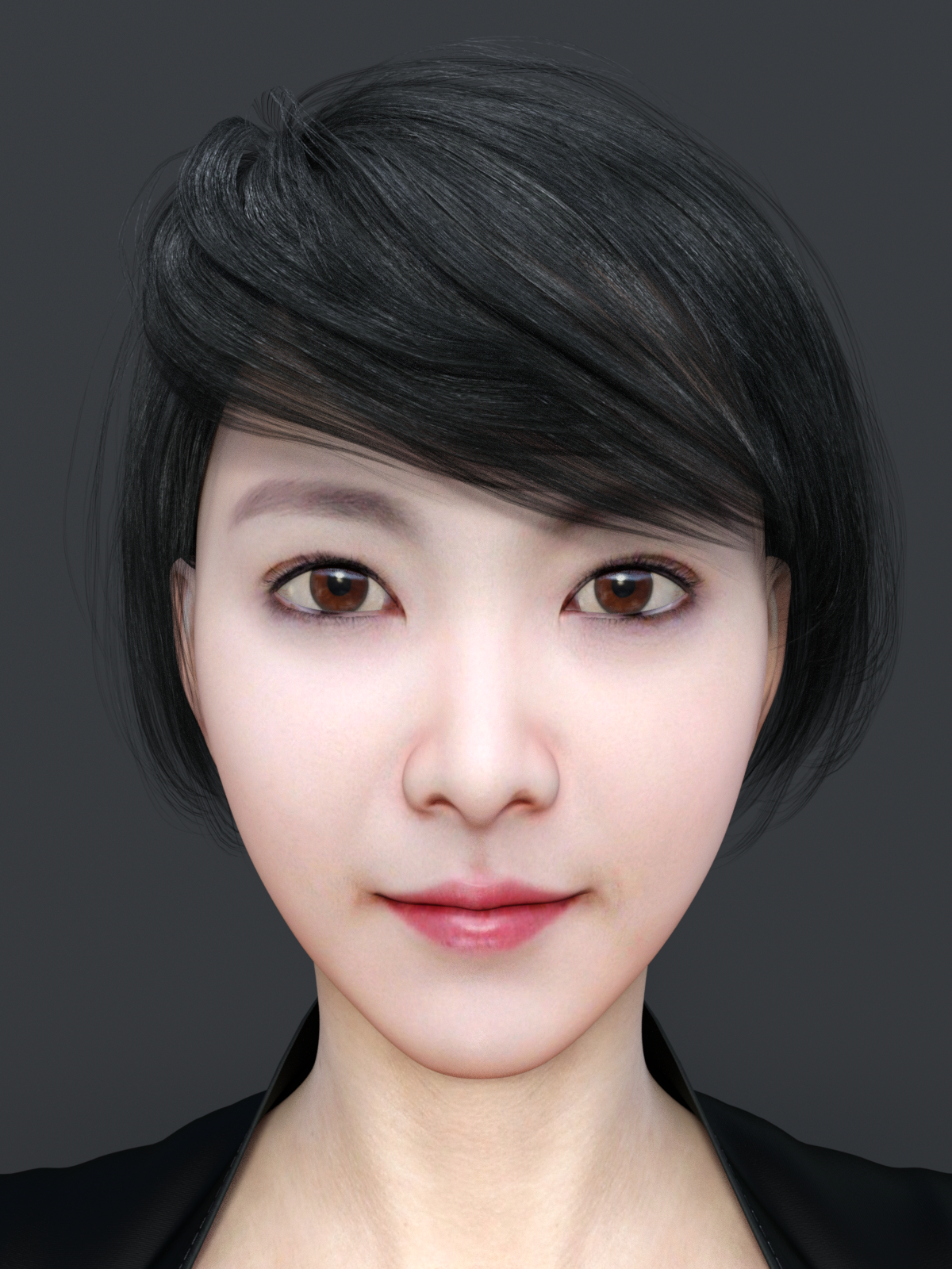 Short Hair Asian Beauty D Model In Woman DExport - Short hair on asian